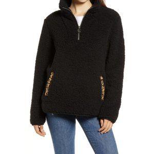 NWT Thread & Supply black animal print sweater